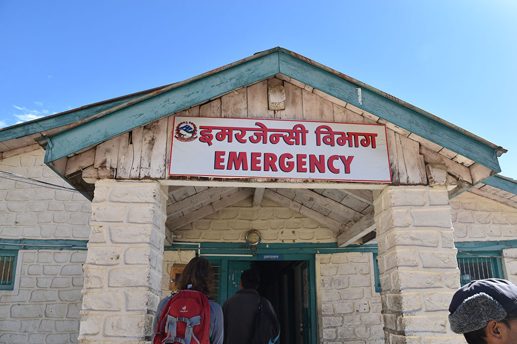 The emergency building of the hospital in Simikot, Nepal.