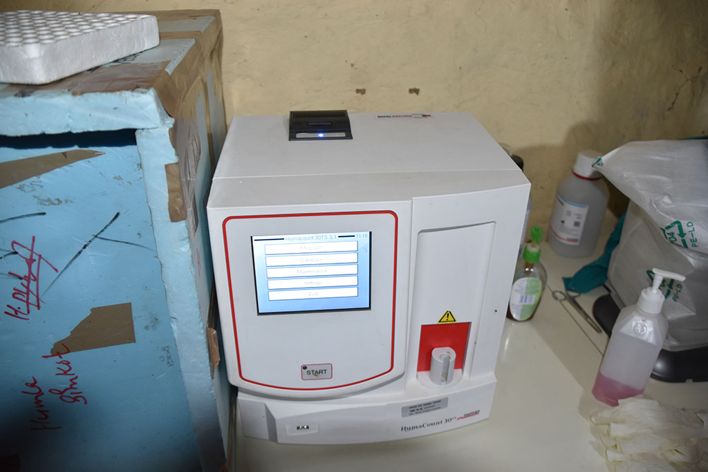 Newest modern devices in the hospital in Simikot, Nepal, from Nepal Trust Austria.